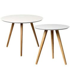 Bloomingville Latte/Cortado Sofabord Ø59/39cm (2-pack) Stylish Coffee Table, Round Coffee Table, Table Furniture, Living Room Furniture, Cosy Night In, Kitchenware, Tableware, Grey Oak, Home Decor Kitchen