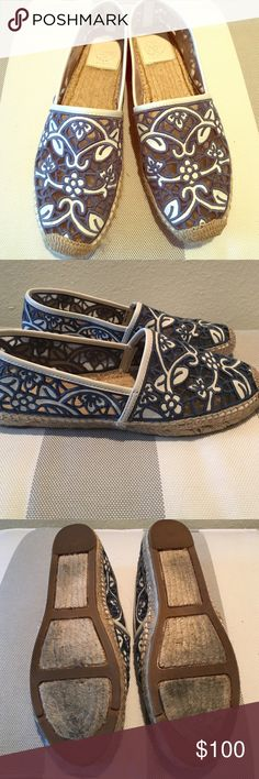 Tory Burch espadrilles Tory Burch espadrilles. Simply adorable, gently worn on the soles and no wear or tears on the main body. These are super comfortable and breathable! Tory Burch Shoes Espadrilles