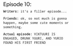 Episode 10, Victuri is engaged, Yuri's drunk banquet and Yurio becomes Friends with Otabek