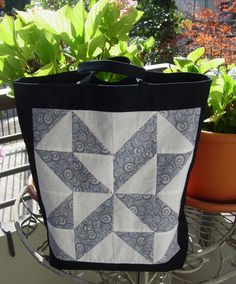 Fully Lined Tote Bag by SarahsCottonPatch on Etsy