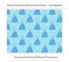 Free Landscape Pastel Aqua Blue Star Large Cinderella Pattern Paper - Cinderella