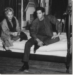 """""""Wild in the Country"""" 1960 - Tuesday Weld and Elvis Presley. """"He walked into a room and everything stopped. Elvis was just so physically beautiful that even if he didn't have any talent.just his face, just his presence. Elvis Presley Images, Elvis Presley Movies, Rock And Roll, Wild In The Country, Tuesday Weld, If I Can Dream, King Creole, Elevator Music, Mamie Van Doren"""