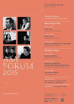 Architect Fernando Menis is attending, as an honoraryspeaker, the ASA International Forum 2015, between May 1st – May 4th,2015 in Bangkok, Thailand.