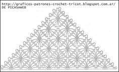 TEJIDOS A CROCHET - GANCHILLO - PATRONES: CHAL TEJIDO A CROCHET