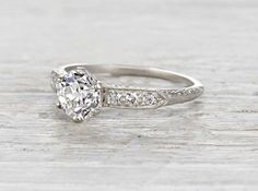1.08 Carat Edwardian Tiffany & Co. Engagement Ring