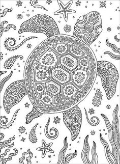 Adult Coloring Page Turtle New Colorful Meditations Coloring Book From Knitpicks Turtle Coloring Pages, Adult Coloring Book Pages, Mandala Coloring Pages, Animal Coloring Pages, Free Coloring Pages, Printable Coloring Pages, Coloring Books, Heart Coloring Pages, Dibujos Zentangle Art