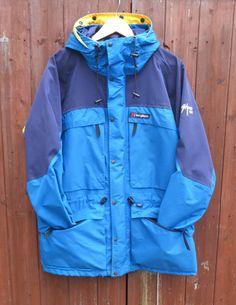 Vintage 90s Berghaus Oversize Mera Peak Gore-Tex Waterproof Hiking Jacket Coat Size L by WilderPeople on Etsy