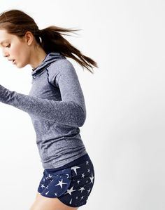 New Balance for J.Crew seamless hoodie and athletic-fit running short in star print.