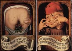 Артефакты, диковинки, интересности... - Диптих неизвестного фламандского юмориста 16-го века