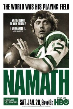 what a stud he was ; Sports Images, Sports Photos, Jack Lambert, Best Picture Winners, Hbo Documentaries, Joe Namath, Front Runner, People Of Interest, Oscar Winners