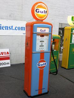 Gulf Petrol Pump, Retro-Classics, Stuttgart, Germany, 2015