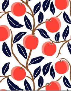 Home accents from Draper James will make any space sparkle. Pattern Illustration, Fruit Illustration, Botanical Illustration, Graphic Illustration, Cool Patterns, Textures Patterns, Flower Patterns, Print Patterns, Of Wallpaper
