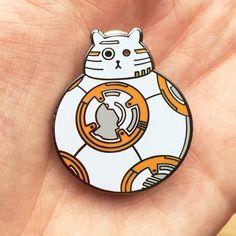 BB8 Pin Star Wars Enamel Badge Lapel Pin Cat by thenosuchdisco