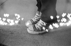 my feet love me....  DIY Heart Filter for Bokeh Effect Double Exposed with Portraits- via lomography