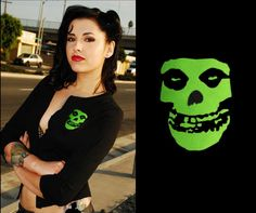 Back in stock - Misfits Lime Applique Cardigan in black by Viva Dulce Marina