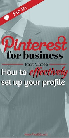How to effectively set up your Pinterest Profile
