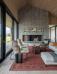 This private residence near Jackson Hole, Wyoming mixes Larch wood floors by & minimalist architecture with a collection of folk art for a personal flair. Living Room Seating, Living Room Decor, Living Rooms, Spanish Home Decor, Modern Rustic Homes, Scandinavian Living, Recycled Furniture, Large Homes, House Floor Plans