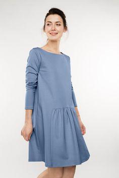 Light blue dress Special dress Trendy dress LeMuse light Source by lemuseclothing dresses Petite Dresses, Linen Dresses, Trendy Dresses, Casual Dresses, Short Dresses, Fashion Dresses, Dresses With Sleeves, Dress Long, Light Blue Dress Short