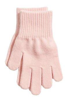 H&M - Gants rose pâle
