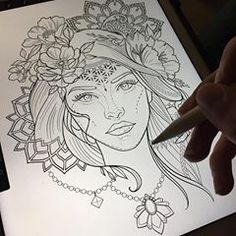 Stencil in progress... :) 🌿 #Miletune Girl Side Tattoos, Ems Tattoos, Arrow Tattoos, Sleeve Tattoos, Ankle Tattoo Small, Tiny Tattoo, Small Tattoos, Meaning Of Arrow Tattoo, Arrow Tattoo Design