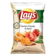 Image result for garden tomato basil lays