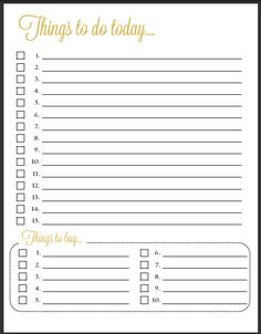 I so need this! ~ Things To Do Template PDF | Free Printable To Do ...
