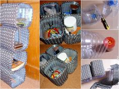 Organizer z 5 litrowych butelek PET/ Storage box from PET bottles