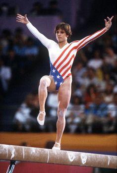 Artistic Gymnastics, Rhythmic Gymnastics, Gymnastics Girls, Olympic Sports, Olympic Games, Mary Lou Retton, Balance Beam, Female Gymnast, Olympic Champion