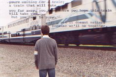 """""""you're waiting for a train; a train that will take you far away. you know where you hope this train will take you, but you can't be sure. Inception Quotes, You Know Where, All Quotes, Far Away, My Way, Image Sharing, Waiting, Train, Film"""