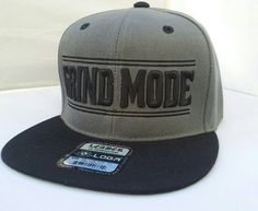 Hey, I found this really awesome Etsy listing at https://www.etsy.com/listing/286364271/gray-black-hat-grind-mode-snapback-hat