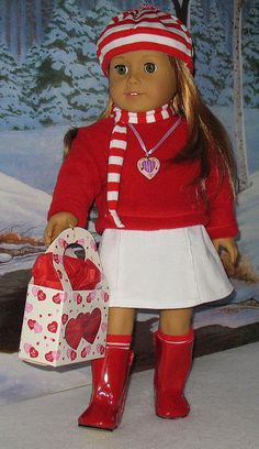 Mia Red & White Winter Outfit by Sugarloaf Doll Clothes, via Flickr