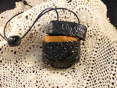 Hand carved Inro type Pendant made by Michele Hajek