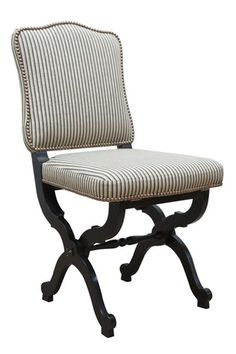 Maison Jansen Folding Chair Traditional Upholstery Fabric Wood Dining By Hollywood At