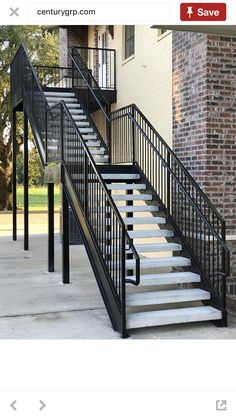 Outside Stairs Design, House Outside Design, House Front Design, Open Stairs, House Stairs, Interior, Balconies, Home Decor, Outdoor Stairs