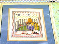 PlayPen Bunny Sampler Cross Stitch Kit by Bucilla Daisy Kingdom. $4.00, via Etsy.