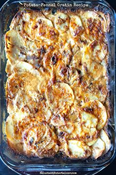 Today's post is about a party I'm hosting tonight, the Dinner Party Flow + Menu, and a scrumptious Potato-Fennel Gratin Recipe!