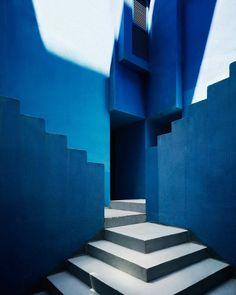 """just-good-design:  """" La muralla roja (azul) by Ricardo Bofill  Photo: @gregori_civera  """""""