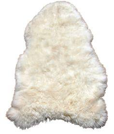 IJslandse eco schapenvacht wit afmeting in de lengte 120cm tot 130cm