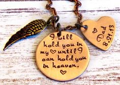Remembrance Necklace - Hand Stamped Heart Necklace - Heaven - Remembrance Jewelry on Etsy, $34.00