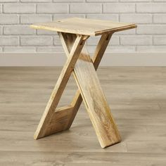 Orren Ellis Boysen Folding End Table Folding Furniture, Cool Furniture, Folding Table Diy, Diy Table Legs, Inexpensive Furniture, Small Tables, End Tables, Deco Marine, Side Table With Storage
