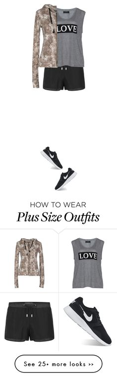 """just want to go for a run"" by ntlpurpolia on Polyvore featuring Carmakoma, Risskio and NIKE"
