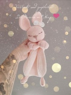 Bunny Comforter - Crochet and Knitting Patterns Amigurumi Cuddle . Bunny Comforter - Crochet and Knitting Patterns Amigurumi Cuddle Cloth Bunny - Crochet and Knitting Patterns Al. Bunny Crochet, Crochet Animals, Crochet Dolls, Free Crochet, Crochet Lovey Free Pattern, Knit Crochet, Baby Knitting Patterns, Amigurumi Patterns, Embroidery Patterns