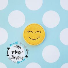 Emotion smiling feltie ITh Embroidery design file