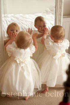 Twin baby photo session in St Albans. If I were to have two. This would be a great idea :)