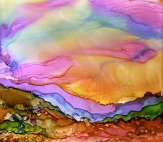 How to Paint with Alcohol Inks, by Wendy Videlock 3/5 I like this technique. I would like to try this