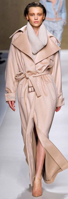 Blumarine Fall Winter 2013-14 » bcr8tive :: silky a bedroom robe, but strong enough to face the elements LOVE LOVE LOVE