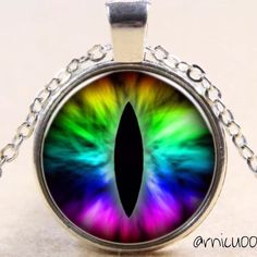 """BOGO 50% Off! Retro Eye Pendant Necklace! NWT, Beautiful Colorful Eye Pendant on Silver Plated Chain! Length is approx 17.8"""", Lobster clasp closure; Pendant is approx 1"""" in diameter. Material: Pendant is Glass & Silver Alloy, Chain is Silver Plated. Please ask any Questions before purchasing! Price Firm unless Bundled! ❌Trades ❌PP Jewelry Necklaces"""