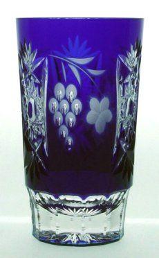 AJKA MARSALA Cut to Clear Amethyst Purple Crystal Whiskey Glass Tumbler