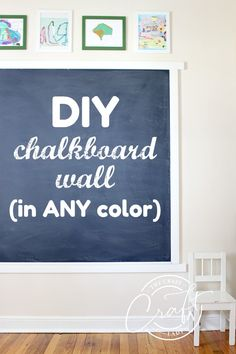 Yes, there is a trick that turns any paint into a chalkboard -- DIY Navy Blue Chalkboard Wall with ANY Color Chalkboard Paint - The Crazy Craft Lady