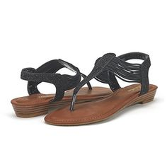 919cbb5f8 Womens Flowers T-Strap Flip Flops Thong Flat Sandals -Dblossom ...